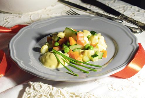 Insalata Russa leggera con mayo veg